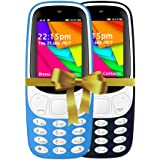 I KALL 2.4 Inch Display Dual Sim Mobile Combo With Feature Of Wireless FM, Bluetooth, GPRS, 1800 Mah Battery Capacity - K35 (Light Blue & Dark Blue)