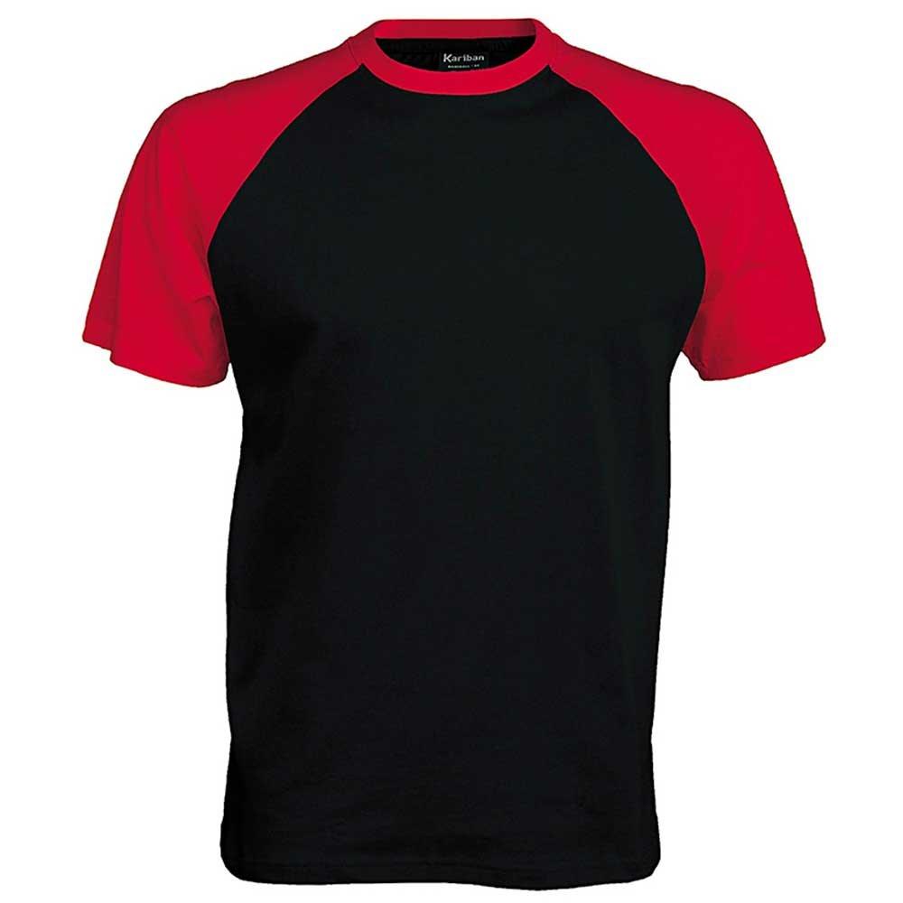 Black t shirt sports - Kariban Mens Colours Short Sleeved Cotton Baseball Sports T Shirt Amazon Co Uk Sports Outdoors