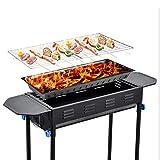 ZTXY Rotondo Piede Grande Giapponese Grill Pieghevole Outdoor Griglie domestiche Forno a Legna Fumatore Barbecue per Campeggio all'aperto Giardino Grill BBQ Utensil