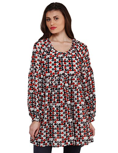 Oxolloxo Women trendy printed tunic  available at amazon for Rs.404