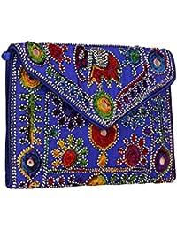 Women's Embordierd Multi Coloured Shoulder Bag/Traditional Bag/Jhola/Jaipuri Rajsthani BagWomen Rajasthani Gujarati... - B079P68HG1