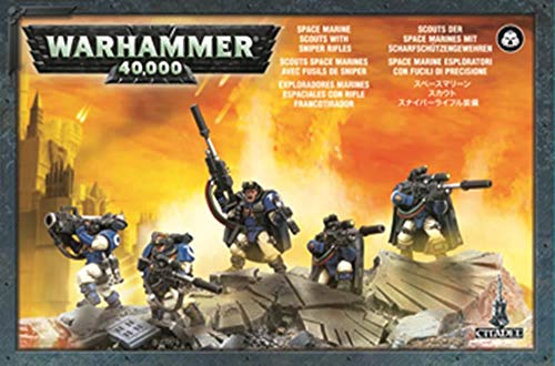 Games Workshop Space Marines - Scouts with Sniper Rifles -