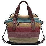 KAUKKO Tissu Multicolore en toile rayée sacs à main pour ...