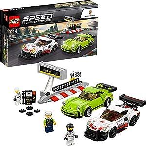 LEGO Speed Champions - Porsche RSR y 911 Turbo 3.0, Juguete de Coches de Carreras para Construir, Jugar y Exponer, Incluye Minifiguras de Pilotos y Barrera de Boxes (75888)