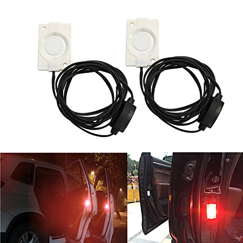 CICMOD Anti Kollision Universal Fit Auto LKW SUV LED Tür Öffnen Sicherheitslicht Rot Blinkt Sicherheitsanzeiger Wasserdicht