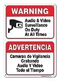 Placa de Señal de la Valla del Garaje y la vigilancia de Vídeo en Servicio en Todo Momento para Decoración del hogar