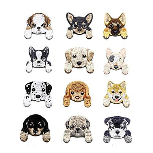 ischt Welpe Hund Patches Aufnäher Aufbügler Applikation Zum aufbügeln Set Tattoo Patches Bügelbild Sticker Aufnäher Aufbügler Patch ()