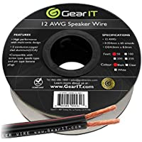 GearIT Pro Series - Cable de Altavoz (Calibre 12 AWG) 12AWG 50 pies (Negro)