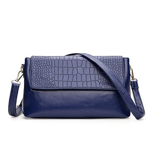 ZPFME Schultertaschen Klassisch Retro Party Retro Bankett Mode Umhängetasche Geschenk Damen Tasche,Blue-OneSize -