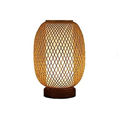 Lichter Bambus Tischlampe, Echtholz Bambus Lampe Holztisch Lampe Wohnzimmer Lichter Nachttischlampe Vertikale Große Tischlampe Startseite Massivholz Schreibtischlampe Kreative Nordischen Stil Restaura