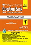 Oswaal CBSE CCE Question Bank mathematics Class 7 (term 1 & 2) PB