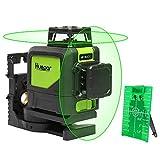 Self-leveling Semi Professional Laser Level - Huepar 902CG Green Beam Cross Lines Laser 360-Degree...