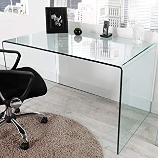 ambientica XL Designer Schreibtisch Esstisch AIR 120cm Safety Glass Bürotisch