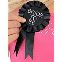 Hen Party Superstore Bride To Be Rosette/Badge Black
