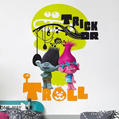 Bilderwelten Wandtattoo Trolls - Halloween, Sticker Wandtattoos Wandsticker Wandbild, Größe: 50cm x 40cm