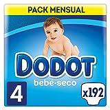 Dodot Bebé-Seco - Pañales Talla 4 Con Canales De Aire, 9-14 kg - 192 Pañales
