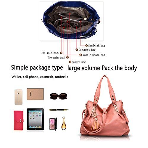 Sunas La signora classica borsa a tracolla borsa atmosfera portafoglio minimalista Messenger rosa