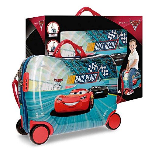 Disney Cars Race - Valigia per bambini, 50 cm, 34 litri, Multicolore