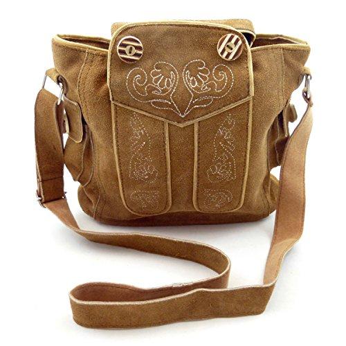 Trachtentasche Dirndltasche Lederhosen-Tasche Umhängetasche Leder Braun - Bild 1