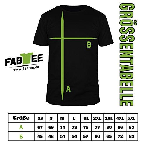 FABTEE Blockchain Bitcoin - Herren T-Shirt Bio Baumwolle - Verschiedene Farben - Größen S-3XL, Größe:M;Farbe:Grau Meliert - 2