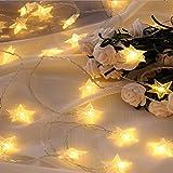 FFDGHB Linternas PequeñAs Led De Ahorro De EnergíA HabitacióN Estrellada LáMparas De DecoracióN NavideñA Adecuadas para El DíA De San ValentíN, Bodas, Baile 78.74In / 10 Luces