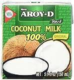 Aroy-D Kokosnussmilch (aus Thailand, Fettgehalt ca. 17%, naturbelassen und ohne Zusatzstoffe) 6er Vorteilspack à 150 ml