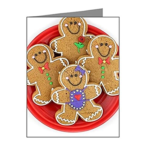 CafePress - Gingerbread Cookies - Note Cards (Pk of 20) Matte