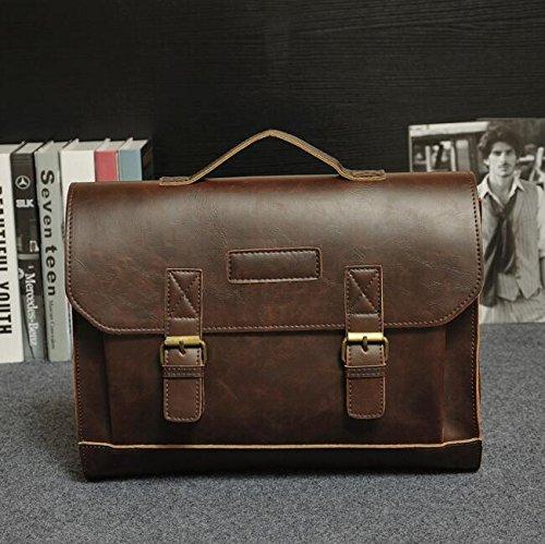 Preisvergleich Produktbild EMOTREE Vintage Herren Messenger Laptoptasche Aktentasche Arbeitstasche Schultertasche Kunstleder Herrentasche