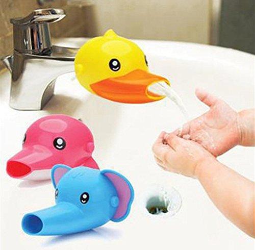 Isuper Wasserhahn Extender, Wasserhahn Verlängerung in Cartoonfigur für Baby Kinder Hände Waschen Badezimmer Accessoires (Elefant)