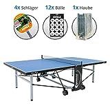 Sponeta S 5-73e Family-Set XL -Tischtennisplatte S 5-73e, 4x Joola Schläger, 12x Joola Bälle, Abdeckhaube