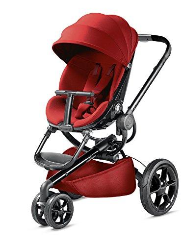 Quinny Moodd Kinderwagen, mit automatischer Aufklappfunktion, Ruheposition in beide Fahrtrichtungen, modernes Design, ab der Geburt bis ca. 3,5 Jahre, rot