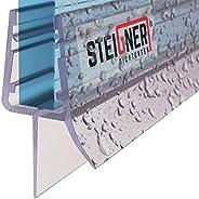 STEIGNER Duschdichtung, Glasstärke 6/7/ 8 mm, Gerade PVC Ersatzdichtung für Dusche, UK03