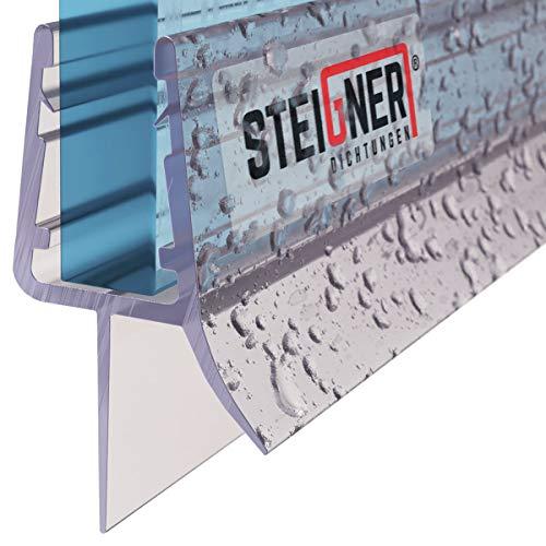 STEIGNER Duschdichtung, 80cm, Glasstärke 6/ 7/ 8 mm, Gerade PVC Ersatzdichtung für Dusche, UK03