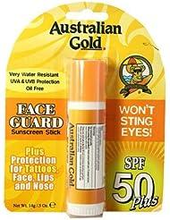 Australian Gold Stick Protection Solaire Visage SPF 50 Face Guard 14 g - Lot de 2