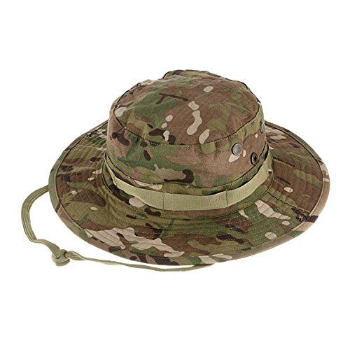 QMFIVE Taktische Boonie Hut, Camouflage Abgerundete Hut Fischer Sonnenschutzkappe für Outdoor Airsoft Paintball Klettern Camping(CP) (Camo-hut Digital)