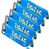 5x Zig Zag Bleu King Size papier à rouler cigarette gommé livre Livret