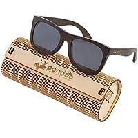 pandoo occhiali da sole in bambù con occhiali Custodia, Cacciavite e borsa–polarizzati & UV400–diverse & montatura/Donna/uomo/unisex/legno/telaio protezione UV - 2001 Van