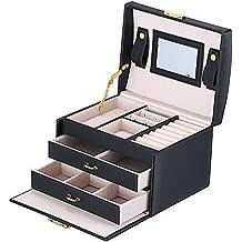 5aa671efc949 BalladHome Caja Joyero con Espejo Caja para Joyas joyero Caja de Joyas  Organizador de Joyas