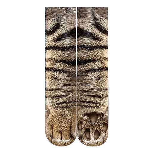 5-Packs 3D Print Tier Füße Socken Sublimated Neuheit Lustige Socken, Unisex Erwachsene Baumwolle Klar Und Lebendige Socken Für Tier Füße Socken Männer Und Frauen,7