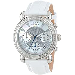 "Just Bling Damen JB-6210L-Q ""Victory"" Leather Diamant Chronograph"