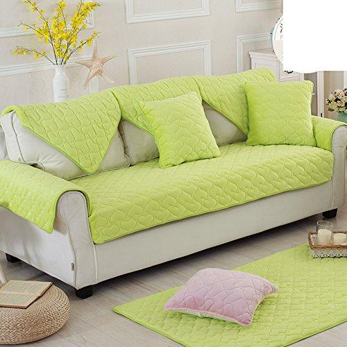 Tinta unita imbottita antiscivolo peluche divano cuscini/ inverno tessuto telo copridivano-C 70x210cm(28x83inch)