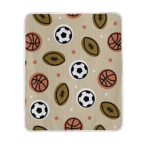 LIUBT - Manta de Rugby para fútbol, diseño Deportivo, Suave, cálida, Ligera,...