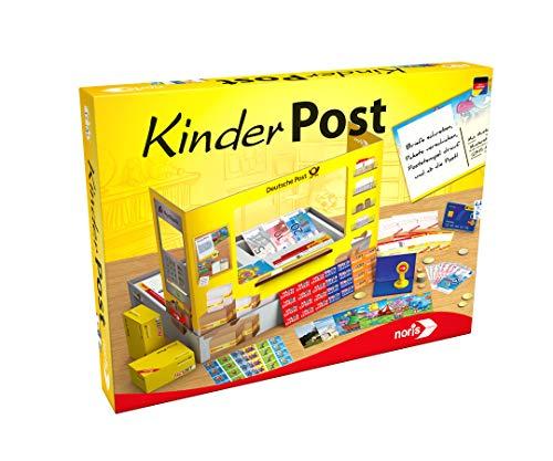 Noris - Kinderpost - Klassisches Kinder-Rollenspiel, inkl. Postschalter und viel Postzubehör, Postkarten, Briefe, Pakete, für Kinder ab 4 Jahren