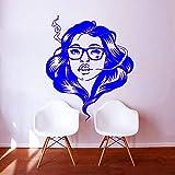 zqyjhkou Testa di Donna specifica con Arte in Vetro Adesivo murale Camera da Letto Salone Adesivi murali Decorativi Moda Ragazze Carta da Parati in Vinile 3 45x56cm