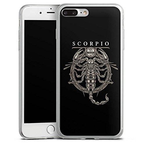 Apple iPhone 8 Plus Slim Case Silikon Hülle Schutzhülle Skorpion Sternzeichen Astrologie Silikon Slim Case transparent