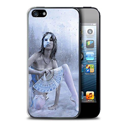 Officiel Elena Dudina Coque / Etui pour Apple iPhone SE / Bain Caché Design / Un avec la Nature Collection Masque d'Hiver