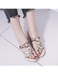 XIAOGEGE Wohnung Schlitz- und Frauen Schuhe, Sommerterrasse und coole Hausschuhe zu tragen, EU 35 Weiß