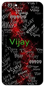 Vijay (Victory) Name & Sign Printed All over customize & Personalized!! Protective back cover for your Smart Phone : Asus Zenfone 2 Lasse ZE601KL