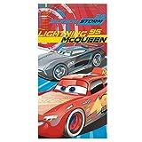 Die besten Disney Strand Spielzeug für Kinder - Disney Cars Lightning McQueen und Badetuch Strandtuch, mehrfarbig Bewertungen