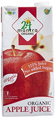 24 Mantra Organic Apple Juice 1 Litre  available at amazon for Rs.148